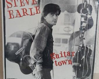 Steve Earle Guitar Town Original LP Near Mint in Shrinkwrap Vinyl Record Album Rebel Outlaw Country