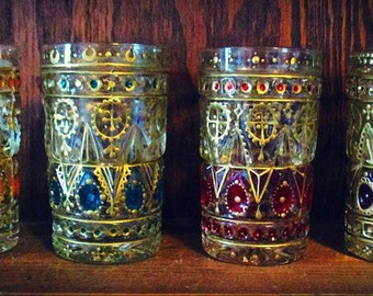 Henna Mehndi Moroccan Tea Glasses