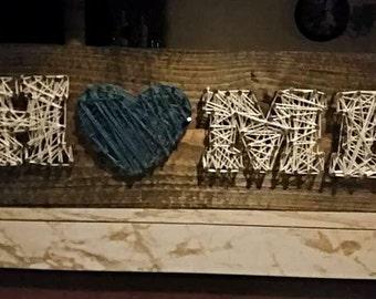 Nail & String Home Sign