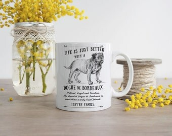 Dogue de Bordeaux Mug ~ Perfect Gift can be personalised