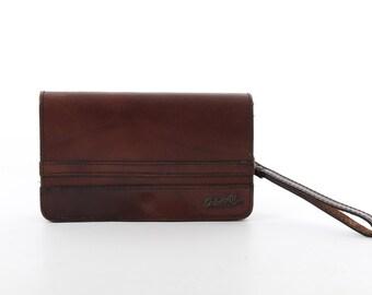 80s • Vintage • Brown Bag • Brown Purse • Brown Leather Clutch • Leather Bag • Genuine Bag • Brown Leather Bag • Brown Clutch • Hand Bag