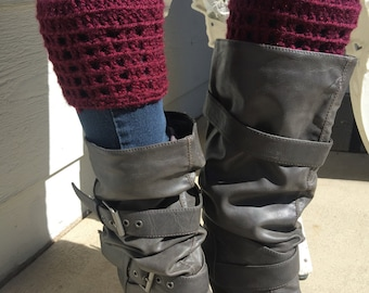 Burgundy, plum colored, BootCuffs, boot cuff, boot fluff, gift ideas, boot topper, fashion item