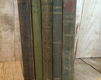 Blue/Green Decorative Vintage Books