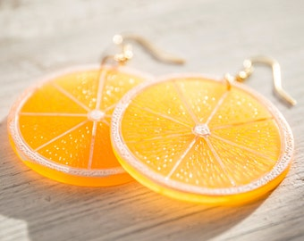 Fruit Slice Statement Earrings