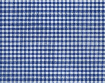 "Royal Blue Gingham, 1/8"" dark blue and white checked fabric, Robert Kaufman Fabric, 100% cotton fabric"