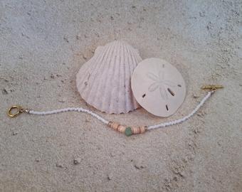 Beige hieshi bead stone