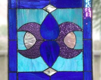 Iridized Blue Panel