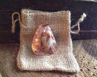 Copper Stone Pendant