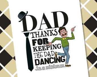 Father's Day Card - Dad Dancing Birthday