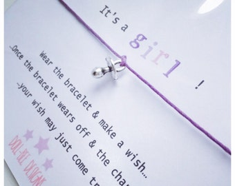 Wishing Bracelet 'It's a Girl!' Wish Bracelet Gift
