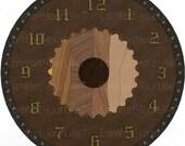 Warrior Shield Printable Clock Face Battle Vikings Shield Digital Image Instant Download