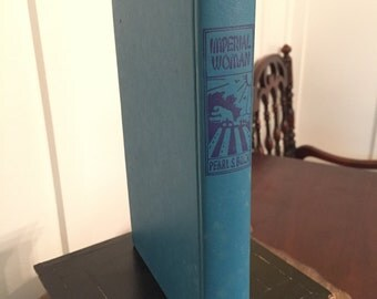 "Vintage 1956 Blue Hardcover Publication of ""Imperial Woman"" by Pearl S. Buck"