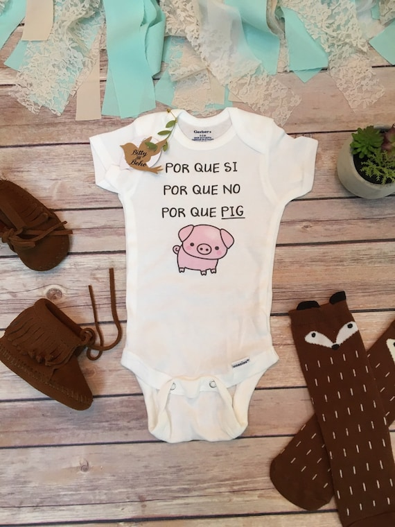 Pig Onesie 174 Baby Boy Clothes Baby Shower Gift By Bittyandboho