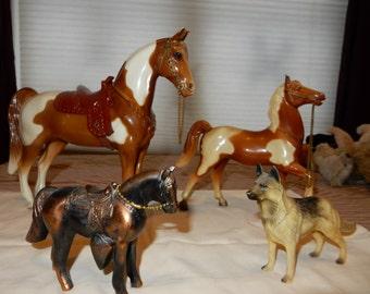 Roy Roger's Dog Bullet  & Toy Horses