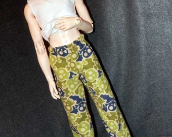 BJD Clothes SD Lounge/PJ Flannel Pants Camouflage Skull
