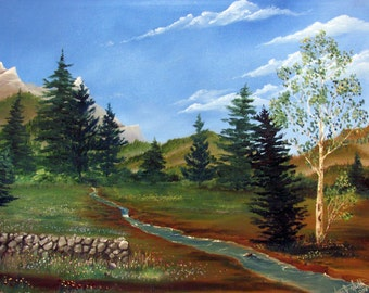 Spring Meadow - Oil Painting