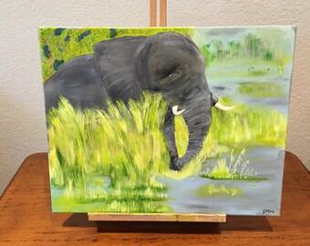 Elephant In Reeds