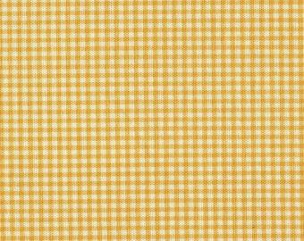 "22"" King Gathered Bedskirt, Yellow Gingham Check"