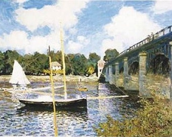 Claude Monet Art Print - Pont d'Argenteuil Poster - Rare Hot New 24X36