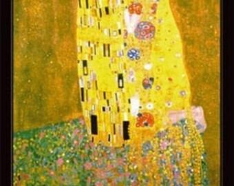 Gustav Klimt Poster - The Kiss - Rare Hot New 24x28