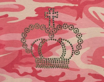 Pink Camo Crystal Crown