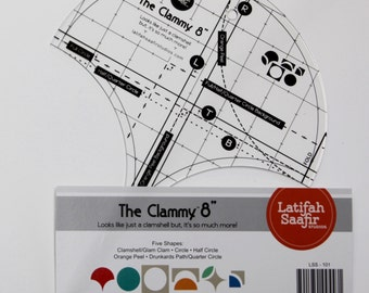 """NEW + The Clammy 8"""" by Latifah Saafir Studios  ruler template"""