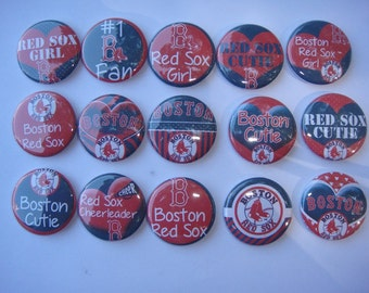 Boston Red Sox Buttons Set of 15