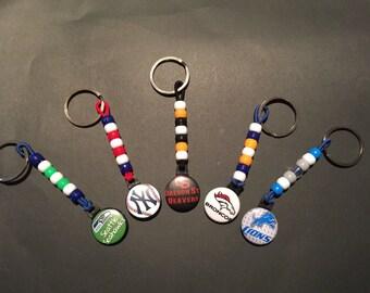 Set of five team keychain