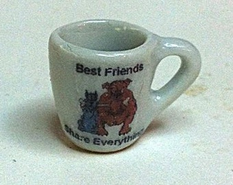 "Miniature ""Best Friends"" Coffee Cup (CER017)"