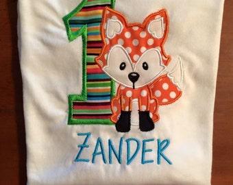 Woodland Theme Birthday Shirt