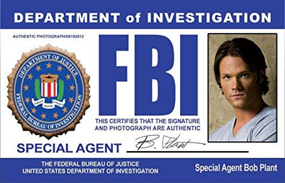 Supernatural Sam And Dean FBI Cards Cosplay By ...
