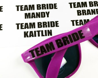 20 pieces Team Bride Personalized Sunglasses Stickers - Stickers Only (PPD-JM83525)