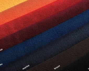 Polar Fleece micro fleece fabric - 8 colours - 0, 5m