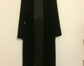 Black Velvet Ankle Length Robe
