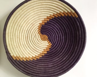 Vintage Basket Bowl with Swirl Pattern