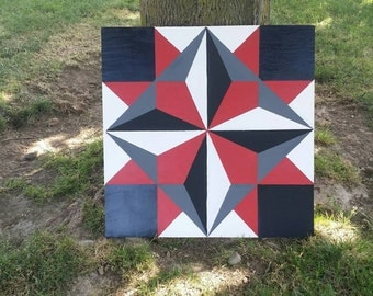 Hand painted 2x2' barn quilt