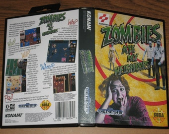 Zombies Ate My Neighbors Custom Case & Custom Artwork (No Game)