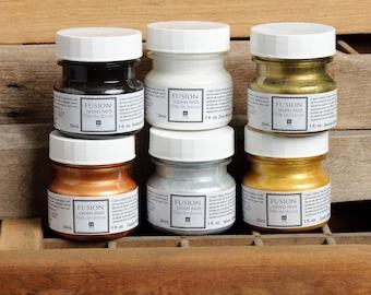 Gilding Paste by Fusion Mineral Paint, No VOC and Eco Friendly Furniture Paint -  - 6 Colors- 50 mL