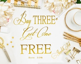 COUPON Buy Three Items Get One of Them Free