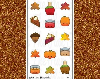 EXCLUSIVE Fall Friends Kawaii Planner Stickers-FR1