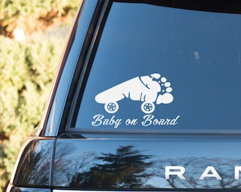 Baby On Board Car Window Vinyl Decal Baby On Board Car Sticker Baby On Board Bumper Sticker Baby Car Decal Baby On Board Car Decal
