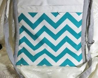 Chooty & Co Messenger bag Turquoise 12x12