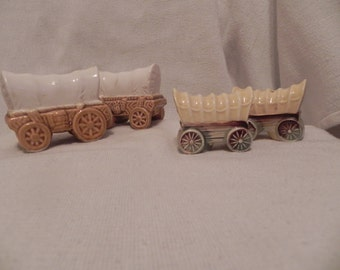 Covered Wagon Large and Small Salt & Pepper Sets