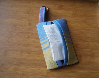 Little Frog Agate Blue/Green Wrap Scrap Tissue Pocket
