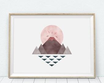 Isle of Lava - digital watercolor version