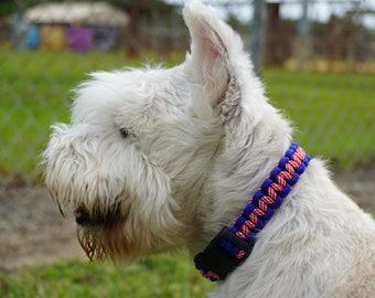 Handmade Dog Collar- Red, White and Blue