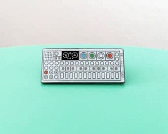 OP-1 Portable Synthesizer Enamel Pin