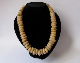 Ancient alabaster necklace - Ethnic jewelry - boho - beaded necklace