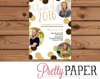 Graduation Party Photo Invitation - Class of 2016 - Digital or Printed