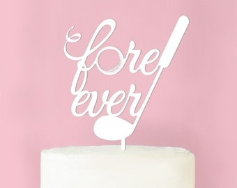Fore Ever Wedding Cake Toppper (MIC-PFEVERTP62)
